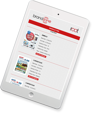 brandzone our solutions tablet